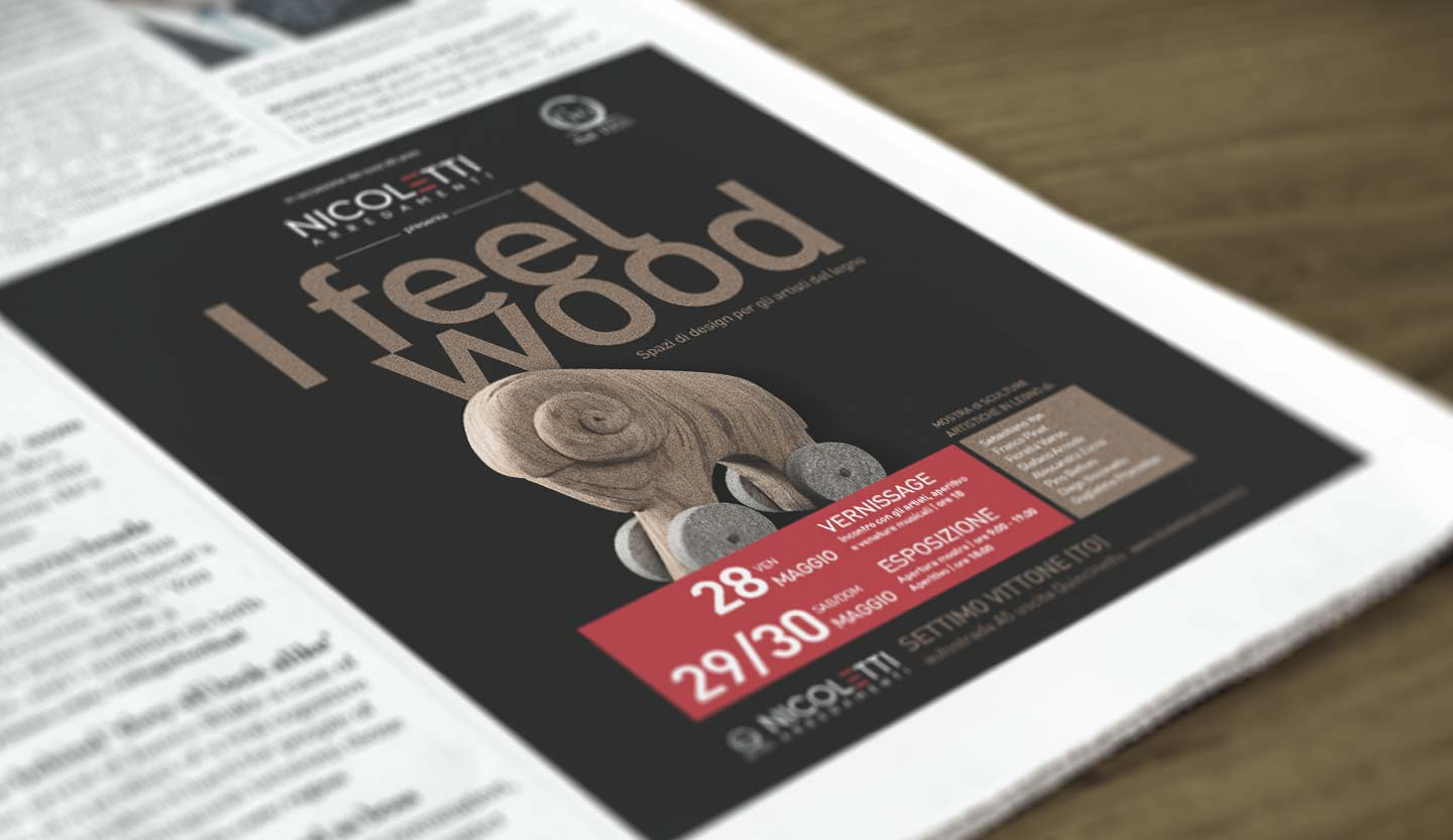 Nicoletti - I feel wood adv dadostudio